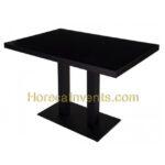 Melamine Tafel Zwart 120x70 Zwart Onderstel Nieuw