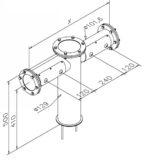 Tapzuil Industrial Line 4200 (4 Kraans) (RVS Geborsteld)