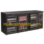 Combisteel Barkoeling Zwart 3 Glasdeuren 7450.0340