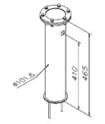 Tapzuil Industrial Line 4050 (1 Kraans) (RVS Geborsteld)
