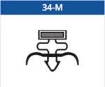 Deurrubber / Magneetraam 34-M