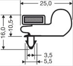 Deurrubber / Magneetraam 30-M (42,5x30,0 cm)