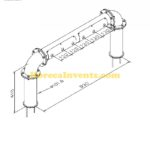 Tapzuil Industrial Line 4550 (6 Kraans) (RVS Geborsteld) (X-maat 990 mm)