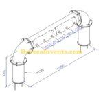 Tapzuil Industrial Line 4560 (6 Kraans) (RVS Geborsteld) (X-maat 1050 mm)