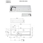 FRANKE ST-BB150 L Tapblad met Spoelbak