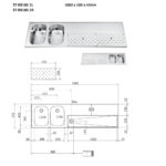 FRANKE ST-BB180 2L Tapblad met Spoelbakken