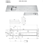 FRANKE ST-BB230 L Tapblad met Spoelbak