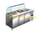 SARO Koelwerkbank met glazen top Model GN 3100 TNS