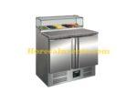 SARO Pizzawerkbank met glasvitrine Model PS 200 G