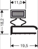Deurrubber / Magneetraam 15-M